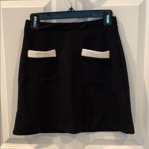 Zara black knit mini skirt